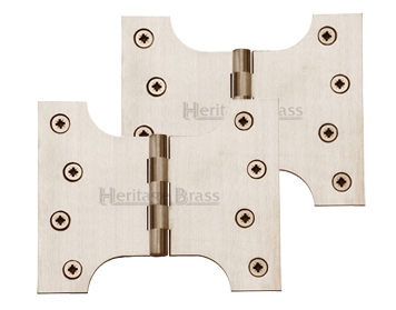 Heritage Brass 5 Inch Parliament Hinges, Satin Nickel - HG99-390-SN (sold in pairs)