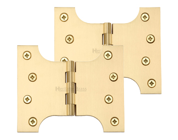 Heritage Brass 5 Inch Parliament Hinges, Satin Brass - HG99-390-SB (sold in pairs)