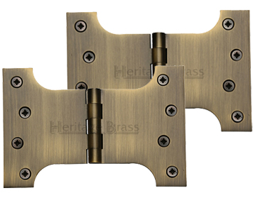 Heritage Brass 6 Inch Parliament Hinges, Antique Brass - HG99-395-AT (sold in pairs)