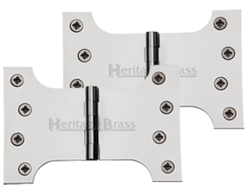 Heritage Brass 6 Inch Parliament Hinges, Polished Chrome - HG99-395-PC (sold in pairs)