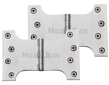 Heritage Brass 6 Inch Parliament Hinges, Satin Chrome - HG99-395-SC (sold in pairs)