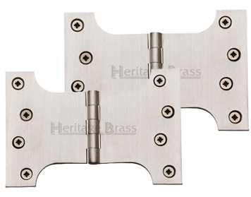 Heritage Brass 6 Inch Parliament Hinges, Satin Nickel - HG99-395-SN (sold in pairs)