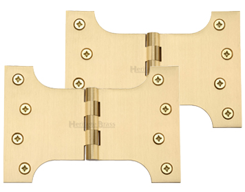 Heritage Brass 6 Inch Parliament Hinges, Satin Brass - HG99-395-SB (sold in pairs)