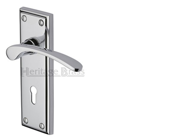 Heritage Brass Hilton Polished Chrome Door Handles - HIL8600-PC (sold in pairs)