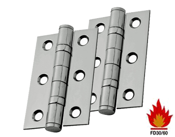 Eurospec 3 Inch Stainless Steel Ball Bearing Hinges, Polished Or Satin Finish - HIN1322/7 (sold in pairs)