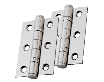 Eurospec 3 Inch Ball Bearing Hinges, Polished Chrome, Electro Brass Or Satin Nickel - HIN1322 (sold in pairs)
