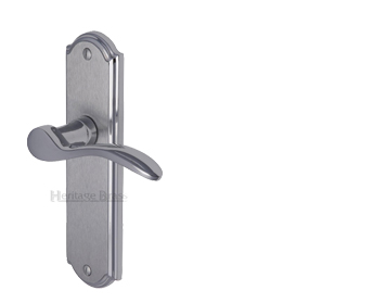 Heritage Brass Howard Apollo Finish, Polished Chrome & Satin Chrome Door Handles - HOW1300-AP (sold in pairs)