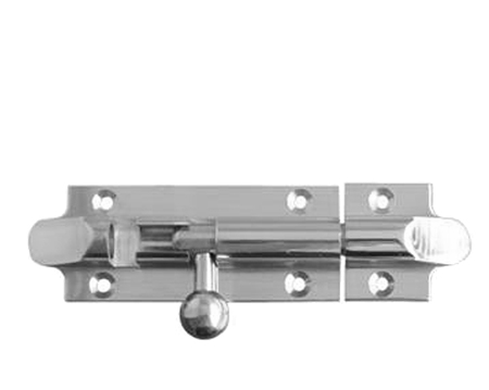 Frelan Hardware Straight Bell Bolts, 75mm, 102mm Or 150mm, Polished Chrome - J1101PC