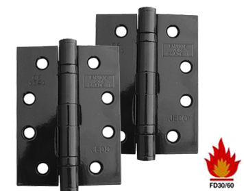 Marvelous Frelan Hardware 4 Inch Steel Ball Bearing Hinges, Black Finish   J8500BL  (sold In