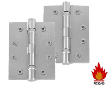 Frelan Hardware 4 Inch Ball Bearing Hinges, Satin Chrome - J8500SC (sold in pairs)