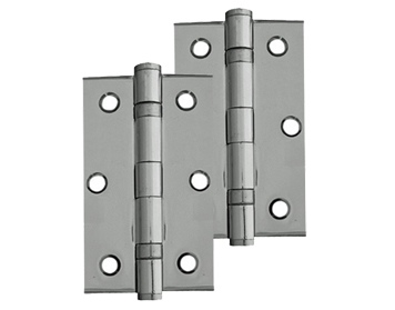 Frelan Hardware 3 Inch Ball Bearing Hinges, Polished Chrome - J8502PC (sold in pairs)