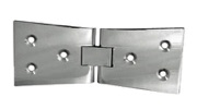 2 SETS OF 2 x COUNTER FLAP HINGES 1 x MATCHING COUNTER CATCH CHROMED