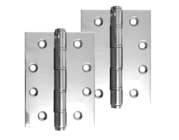 4 Inch Stainless Steel Single Washered Hinges, Polished Or Satin Finish - J9505PSS (sold in pairs)