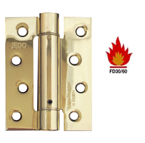 4 INCH DOOR CLOSER SET 'SPRING HINGE', POLISHED BRASS - J9800EB