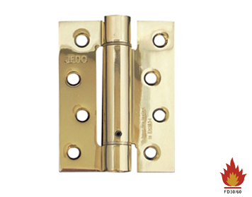 Frelan Hardware 4 Inch Door Closer Set 'Spring Hinge', Polished Brass - J9800EB (sold in packs of 3)
