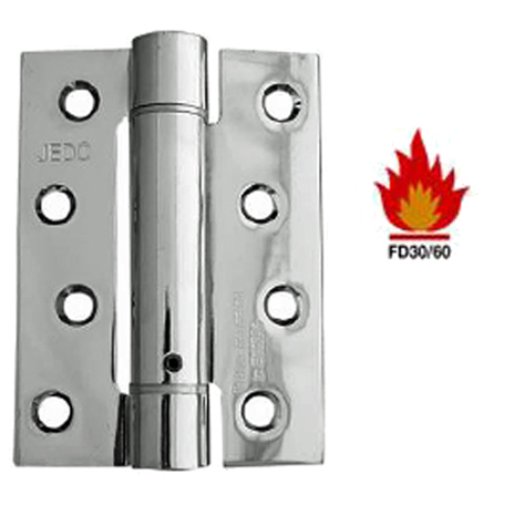 4 INCH DOOR CLOSER SET 'SPRING HINGE', POLISHED CHROME - J9800PC