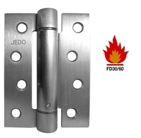 4 INCH DOOR CLOSER SET 'SPRING HINGE', SATIN CHROME - J9800SC