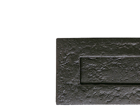 Plain Letter Plate (270mm x 115mm), Black Antique - JAB12