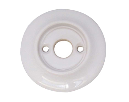 Alternative Backplate Option For Porcelain Mortice Door Knobs, White - JC10RWH (sold in pairs)