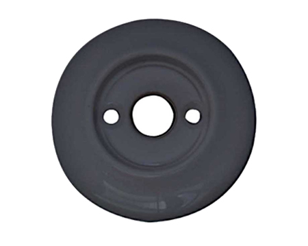 Alternative Backplate Option For Porcelain Mortice Door Knobs, Black - JC60RBL (sold in pairs)
