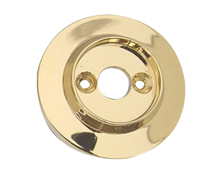 Alternative Backplate Option For Porcelain Mortice Door Knobs, PVD Stainless Brass - JC80RPVD (sold in pairs)