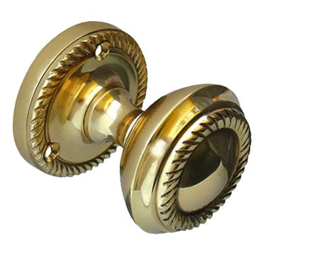 Jedo Collection Georgian Mortice Door Knobs, Polished Brass - JG4PB