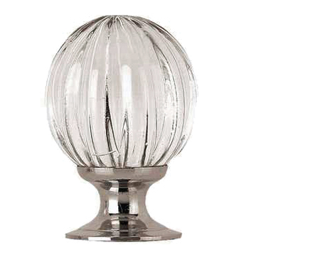 Jedo Collection Pumpkin Glass Cupboard Knobs (25mm, 30mm Or 35mm), Polished Chrome Or Satin Chrome - JH1152PC/SC