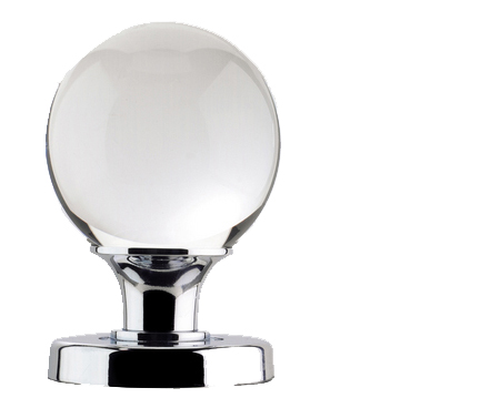 Jedo Collection Plain Glass Ball Mortice Door Knobs, Polished Chrome, Satin Chrome Or Polished Brass - JH5201