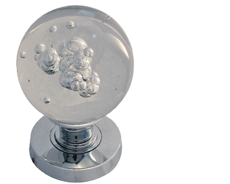 bubble glass mortice door knobs polished chrome satin chrome or polished brass jh5211