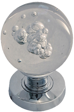 Bubble Glass Mortice Door Knobs, Polished Chrome, Satin Chrome Or ...