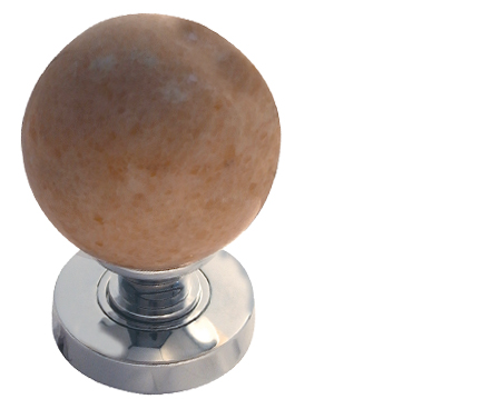 Jedo Collection Sunset Sand Red Marble Mortice Door Knobs, Polished Chrome, Satin Chrome Or Polished Brass - JH5213 (Sold in pairs)