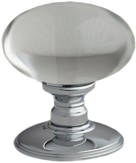 Oval Glass Mortice Door Knobs, Polished Chrome, Satin Chrome Or ...