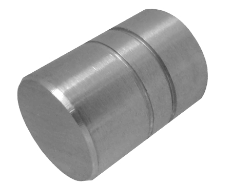 Jedo Collection Cylinder Cupboard Knob (14mm OR 18mm Diameter), Satin Stainless Steel - JH8921SSS