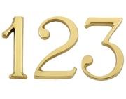 Chrome //Satin Chrome Carlisle Brass Polished Brass Door Number Numeral 0-9