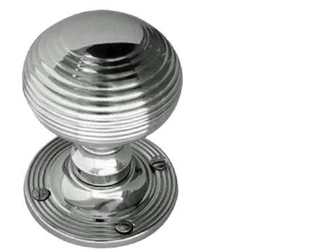 Jedo Collection Queen Anne Reeded Mortice Door Knobs, Polished Chrome, Satin Chrome Or Polished Brass - JR6M