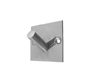 Frelan Hardware Square Single Robe Hooks (48mm x 48mm), Polished Or Satin Stainless Steel - JPS901A