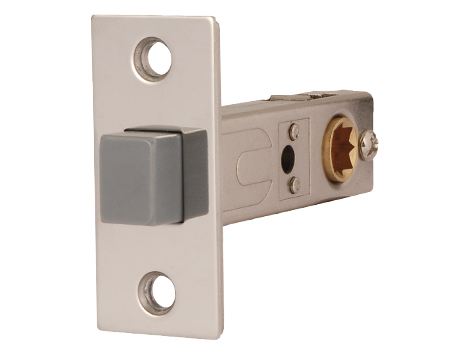 Excel Jigtech 3 Inch Magnetic Passage Latch (Bolt Through), Polished Chrome Finish - JTL4040