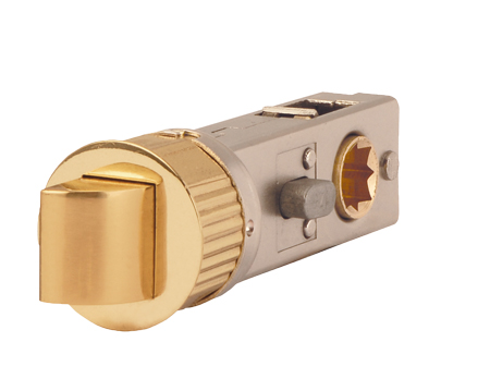 Excel Jigtech 3 Inch Privacy Smartlatch (Bolt Through), Polished Brass Finish - JTL4422