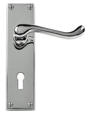 Genial Victorian U0027Scrollu0027 Polished Chrome Door Handles   JV10PC (sold In Pairs)  None