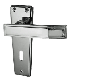 Frelan 'Deco' Polished Chrome Or Satin Chrome Door Handles - JV253 (sold in pairs)