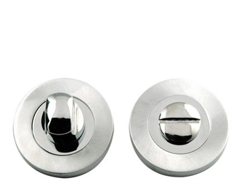 'Dual Finish' Turn & Release, Polished Chrome & Satin Chrome - JV2666PCSC