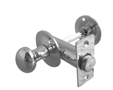 Frelan Hex Style Bathroom Bolts, Polished Chrome, Satin Chrome Or Polished Brass - JV2689