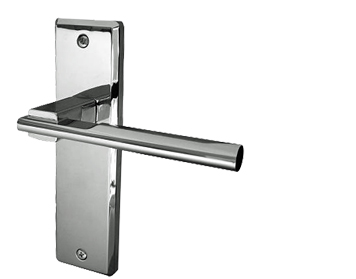Frelan Hardware Delta Polished Chrome Or Satin Chrome Door Handles - JV3003 (sold in pairs)