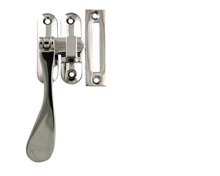 Radius Spoon End Window Fasteners, Polished Chrome, Satin Chrome Or Polished Brass - JV301