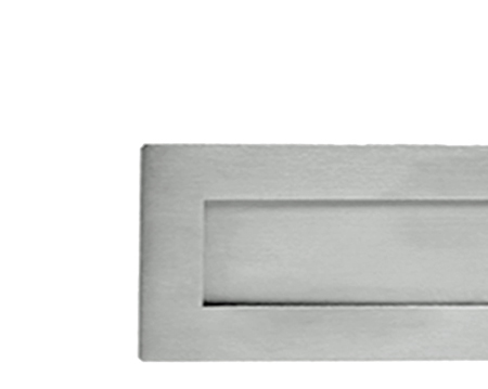 SATIN CHROME PLAIN LETTER PLATES, VARIOUS SIZES - JV36SC