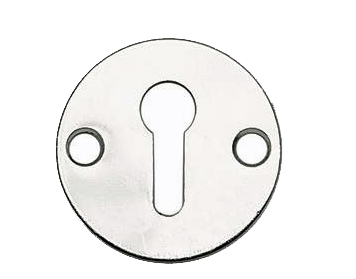 'Plain' Standard Profile Escutcheons, Polished Or Satin Chrome Or Polished Brass - JV41