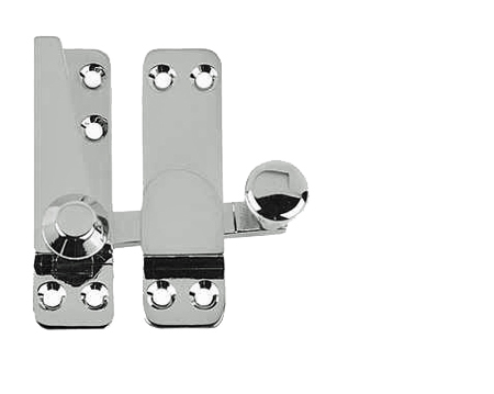 Sash Window Fasteners (68mm X 20mm), Polished Chrome, Satin Chrome Or Polished Brass - JV4200