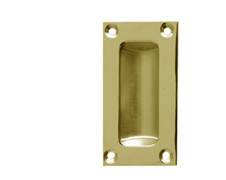 Flush Pull Handles (75mm, 89mm Or 102mm), Polished Brass - JV428PB