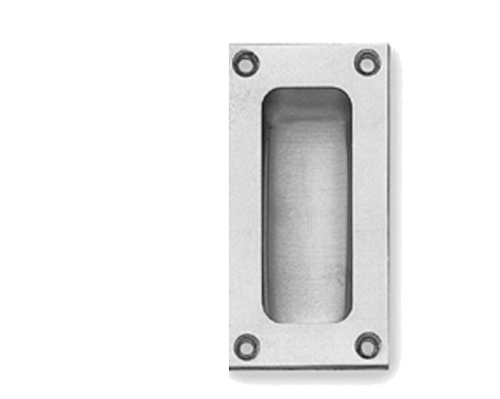 Flush Pull Handles (75mm, 89mm Or 102mm), Polished Chrome Or Satin Chrome - JV428