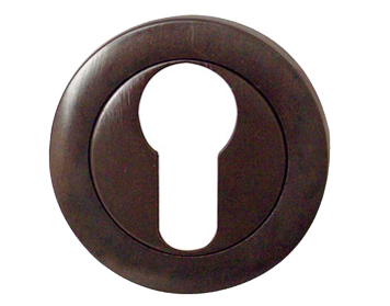 Frelan Hardware 'Euro Profile' Escutcheons, Dark Bronze Finish - JV503EDB